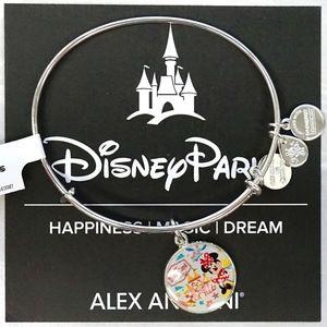 Alex And Ani Park Passports Minnie Silver Bangle